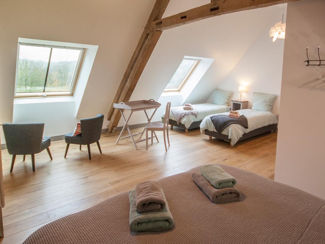 Chambre Valentine avec deux petits lits